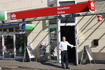 Unser Reisebüro Helios in Schwerin - Aussenansicht