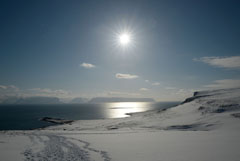 Schneeschuhwandern in Island
